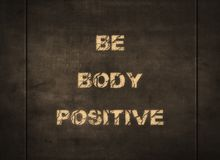 Body positive mental health happy letterpress font. Body positive mental health happy typography letterpress beauty beautiful size life live enjoy happiness vector illustration