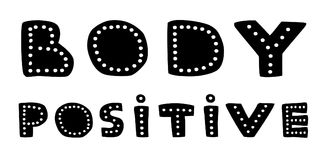 Body postive hand drawn lettering