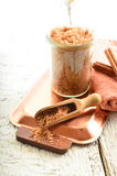 Body scrub - brown sugar with cinnamon. Stock Photography