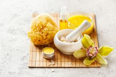 Body scrub from natural ingredients Stock Image
