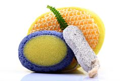 Body scrub pads Royalty Free Stock Image