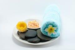 Body scrub spa set Stock Photo
