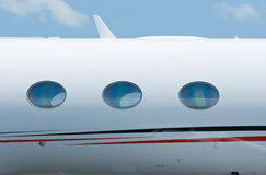 Body section of executive jet Royalty Free Stock Photo