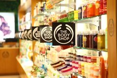 Body Shop en la plaza Jakarta de Cilandak Imagen de archivo