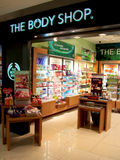 The Body Shop outlet. In Brunei, famous with its fragrant healthcare products such as body perfume and toiletries. Others also include make-up and cosmetic Stock Photography