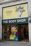 Body Shop powierzchowność w Paryż zdjęcie stock