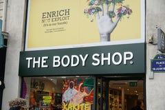 Body Shop powierzchowność w Paryż obrazy royalty free