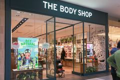 Body Shop sklepu przód zdjęcia stock