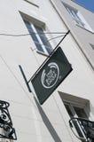 Body Shop znak na głownej ulicie w miasteczku St Pierre portu St Peter port główna ugoda Guernsey kanał zdjęcie stock