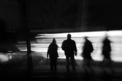 body sihouettes speeding Στοκ εικόνα με δικαίωμα ελεύθερης χρήσης