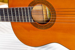 Body of a six string clasical guitar Royalty Free Stock Images