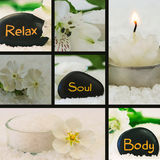 Body, soul, relax collage Stock Images