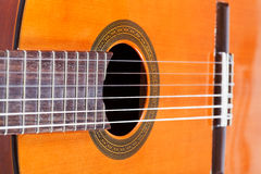 Body of spanish acoustic guitar Royalty Free Stock Photos