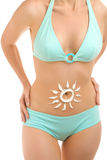 Body and sun-2 Royalty Free Stock Photo
