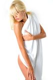 Body in towel royalty free stock photo