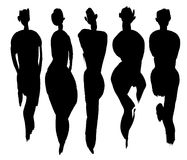 Body types set Stock Photography