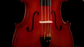 Body of violin or viola instrument turning stock video
