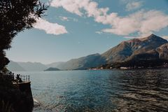 Body of Water and Mountain Photo stock photography