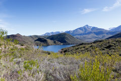 Body of Water near De Rust South Africa. De Rust is a small village at the gateway to the Klein Karoo, South Africa Royalty Free Stock Photography
