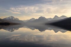 Body of Water Near Mountains Stock Photography