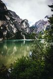 Body of Water Surrounded by Mountains Stock Images