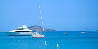 Body of Water and White Yacht Royalty Free Stock Images