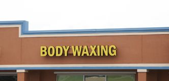 Body Waxing stock image