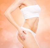 Body in white underwear Stock Photos