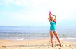 Body woman summertime fun concept Stock Photos