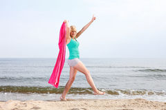 Body woman summertime fun concept Stock Photo