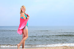 Body woman summertime fun concept Royalty Free Stock Photography