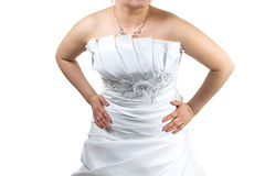 Body of Woman in white wedding dress Stock Photography