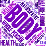 Body Word Cloud. On a white background Stock Images