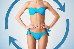 Body of young and beautiful woman Stock Photography