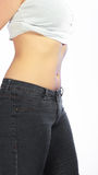 Body of young plus size woman Stock Photography