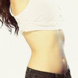 Body of young plus size woman Stock Images