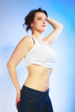 Body of young plus size woman Royalty Free Stock Photo