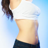 Body of young plus size woman Stock Photo