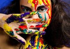 bodyart κορίτσι Στοκ φωτογραφία με δικαίωμα ελεύθερης χρήσης