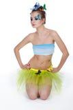 bodyart μοντέλο πεταλούδων Στοκ Εικόνα