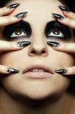 Bodyart de la ojo-zona de la muchacha Imagen de archivo libre de regalías