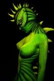 bodyart del Mujer-dragón Imagenes de archivo