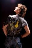 Bodyart dell'uomo/arte di corpo Fotografia Stock