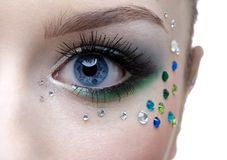 Bodyart of eye zone Stock Image