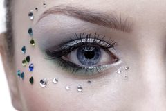 Bodyart of eye zone Royalty Free Stock Image