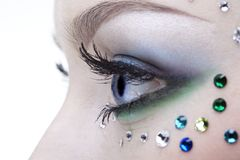 Bodyart of eye zone Stock Images