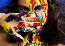 Bodyart girl Royalty Free Stock Photo