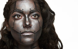 Bodyart painted face Royalty Free Stock Images