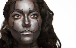 Bodyart a peint le visage images libres de droits