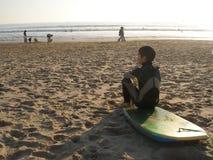 Bodyboard Junge Stockbild